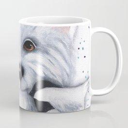 Westie Chickadee Garden Original Art Coffee Mug