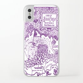 Map of Bohemia (purple) Clear iPhone Case