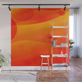 Colorful Orange Abstract Art Design Wall Mural