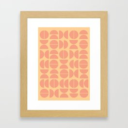 Burano in Peach Framed Art Print