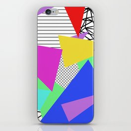 Bits And Pieces - Retro, random, abstract pattern iPhone Skin