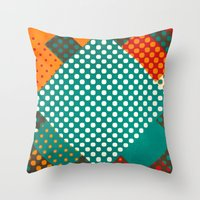 dots Throw Pillows featuring Dots by SensualPatterns