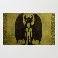 hiccup Area & Throw Rugs featuring Heart of a Chief Soul of a Dragon by Chouly-Shop