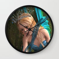 fairy Wall Clocks featuring Fairy by Design Windmill