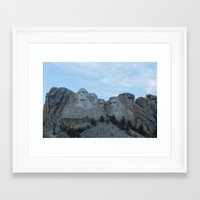 rushmore Framed Art Prints featuring Mount Rushmore by Denny Armstrong