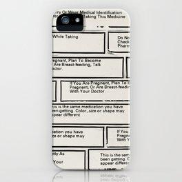 Prescription Instruction  iPhone Case
