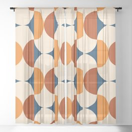 60s Beans Pattern Sheer Curtain
