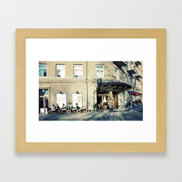 Spring time in Stockholm Framed Art Print