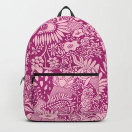 Pink Floral Pattern by Hayley Lauren Design  Backpack