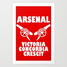 Slogan Arsenal Art Print