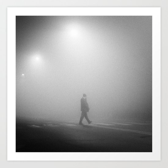 MAN IN THE MIST Art Print