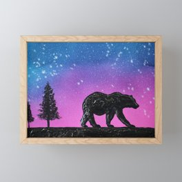 Bear Silhouette Framed Mini Art Print