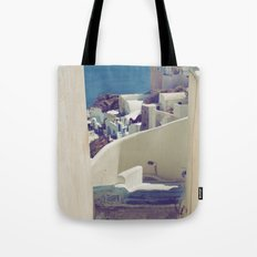 Santorini Stairs IV Tote Bag