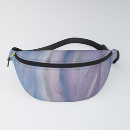 Touching Purple Blue Watercolor Abstract #2 #painting #decor #art #society6 Fanny Pack