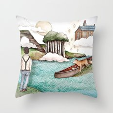 The Day We Saw the Sun Come Up Throw Pillow