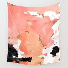 Calm Coral Daydreaming Wall Tapestry