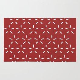 Star Pattern Red Rug
