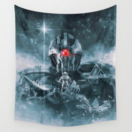 Audience With The Titan Wall Tapestry