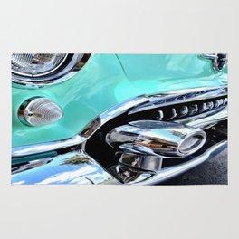 Turquoise Blue Vintage Car Rug