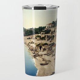 Beach at Marseille, France, ca. 1895 Travel Mug