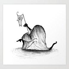 Swamp Monster Art Print
