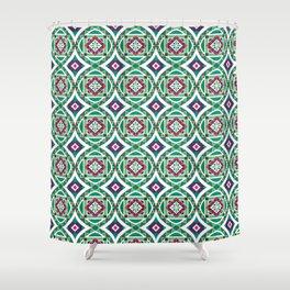 Ethnic Geometric Moroccan Watercolor Seamless Patern 4 Shower Curtain