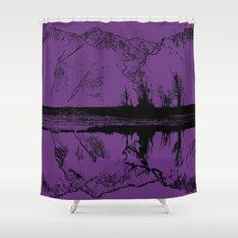 Knik River Mts. Pop Art - 2 Shower Curtain