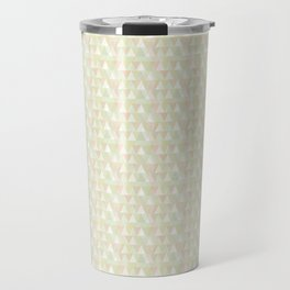 Pastel triangles Travel Mug