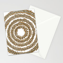 Merry go round (gold) Stationery Cards