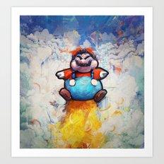 P Balloon - Super Mario World Series / Gaming & Video Games Art Print