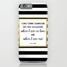 Coco Gold Champagne in love quote iPhone 6 Slim Case