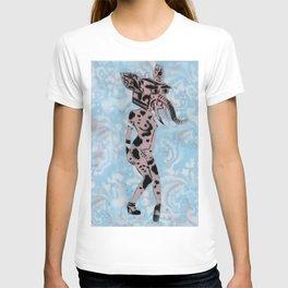 Pinup Girls on a Damask T-shirt