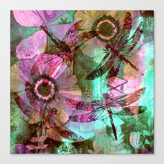 Dragonflies in a Dream Canvas Print