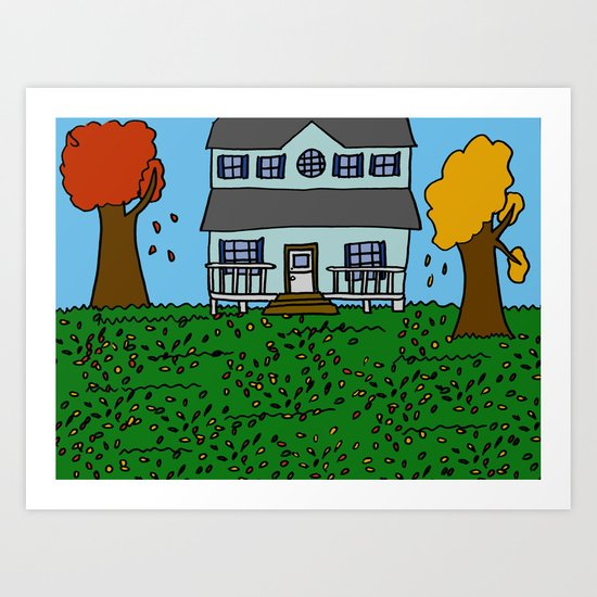 Autumn House Art Print