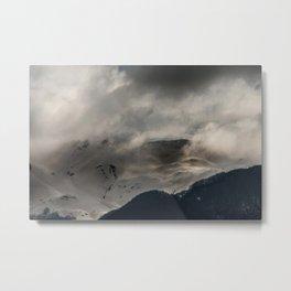 Mountainous terrain Metal Print
