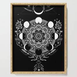 Moon Mandala Serving Tray