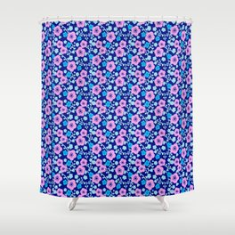 Plum Blossoms colorful Japanese floral pattern Shower Curtain