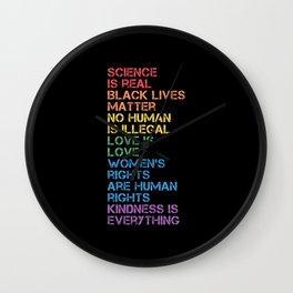 Black Lives MatterScience Is Real LGBT Pride BLM Wall Clock