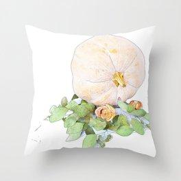 Pumpkin Roses Throw Pillow