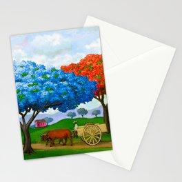 Flamboyán Azul Stationery Cards