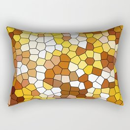 The glowing sun stained glass Rectangular Pillow