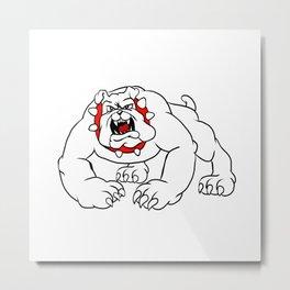 angry bulldog. Metal Print