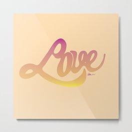 Love script Metal Print