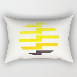 Minimalist Mid Century Circle Frame Yellow Zig Zag Colorful Lightning Bolt Geometric Pattern Rectangular Pillow