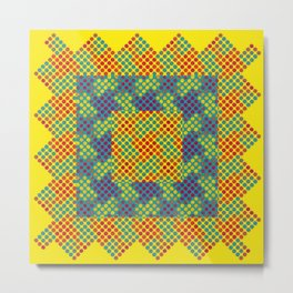 Dot Swatch Equivocated on Yellow Metal Print