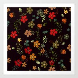 Floral Pattern Colorful Design Art Print