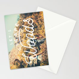 Let's Escape Stationery Cards