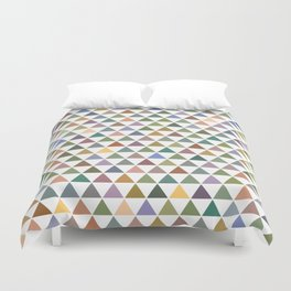Geometric Triangles - Natural Tones Duvet Cover