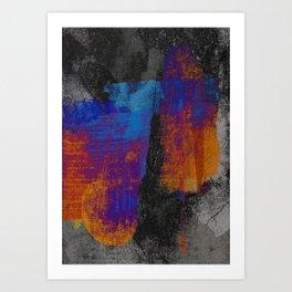 Neon Grunge 3 Art Print