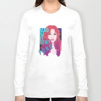 amy pond Long Sleeve T-shirts featuring Magnificent Pond by Franc-eh